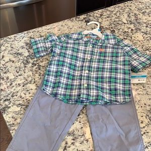 Little Boys Two Piece Shirt and Pant